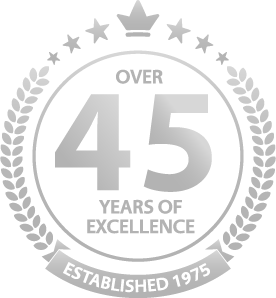 OVER 45 YEARS OF EXCELLENCE ESTABLISHED 1975